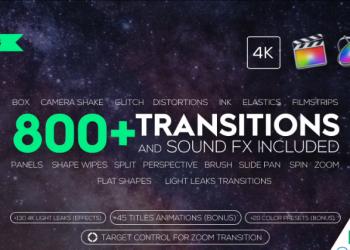 3FCPX插件 725组转场和音效 725+ Transitions和Sound FX v5.8