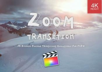 46FCPX转场插件-94个摄像机移动缩放冲击聚焦扭曲旋转视频转场