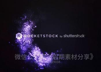 120个4K时尚华丽粒子转场字幕条包装动画背景视频素材