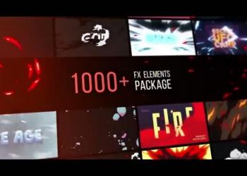 AE脚本+模板-1000种手绘游戏雷电能量火焰烟雾流体MG动画v2+素材