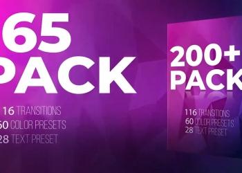 200+组PR预设下载 包含色彩调色/转场/文字标题